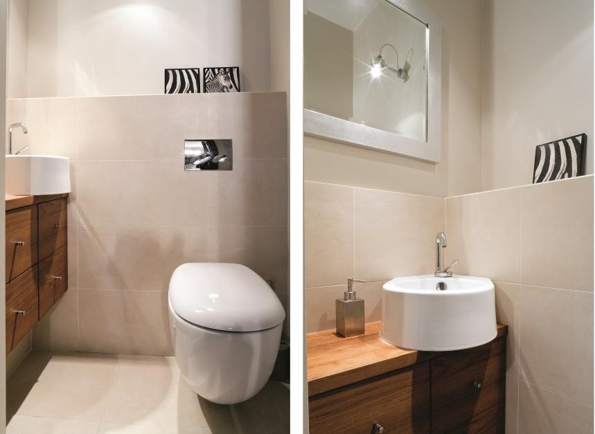 Powierzchnia: ok. 3 m²....  Małe WC – 12 pomysłów z polskich domów  Strona: 12