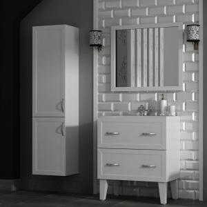 Ponadczasowa klasyka w bieli – meble łazienkowe Rustic firmy Antado. Fot. Antado.