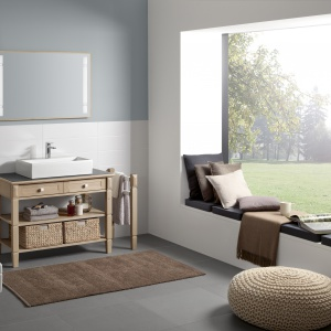 Prostota, nawiązanie do tradycyjnego rzemiosła i natury - kolekcja łazienkowa True Oak firmy Villeroy&Boch. Fot. Villeroy&Boch.