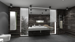 Skandynawska łazienka - projekt konkursowy