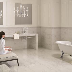 Do złudzenia naśladują biały marmur - płytki ceramiczne Calacatta marki My Way by Paradyż Group. Fot.  My Way by Paradyż Group.