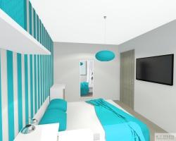 Niewielka sypialnia w Bieruniu