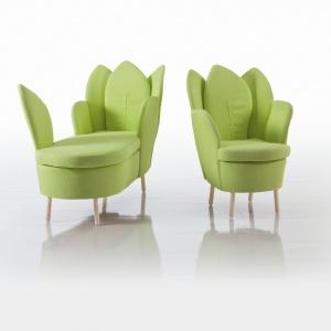 Fotele Morning Dew marki Bruhl dostępne są w inspirującej zieleni, ale także i w innych świeżych i niebanalnych kolorach. Fot. Bruhl.