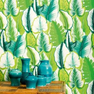Stylowy roślinny wzór tapety z najnowszej kolekcji marki Manuel Canovas na 2016 rok. Fot. Manuel Canovas.