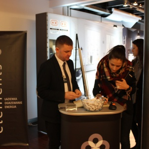 Stoisko ELEMENTS – spotkanie w ramach Studia Dobrych Rozwiązań było okazją do nawiązania kontaktów.