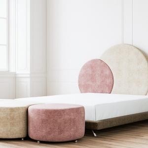 Łóżko Missyou marki Ammadora and Jmb Design ma nowoczesny kształt i zagłówek, który będzie ozdobą całego wnętrza. Fot. Ammadora.
