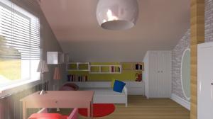 Pokój młodszej córki w domu jednorodzinnym