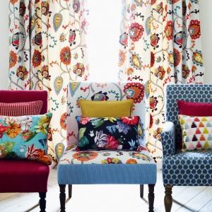 Kolekcja tkanin marki Jane Churchill wniesie do wnętrza porządną dawkę wiosennej energii. Fot. Jane Churchill.