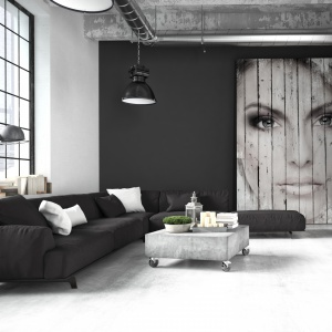 Grafitowa kolorystyka ścian według marki Para Paints. To idealny wybór dla tych, którzy marzą o loftowej i minimalistycznej aranżacji wnętrza. Fot. Para Paints.