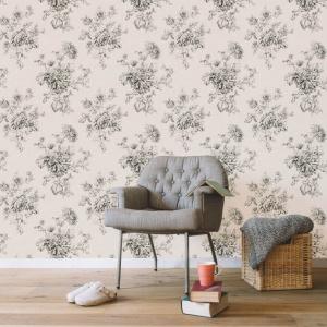 Serendipia to nowa stylowa kolekcja tapet hiszpańskiej marki Coordonne. Efektowne kwiaty ozdobić mogą, na przykład, najbardziej reprezentacyjną ścianę w salonie czy też przedpokoju. Fot. Coordonne.