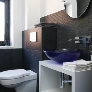 Łazienka ma tylko 3 metry kwadratowe. Przeznaczona jest dla gości. Fot. Bartosz Jarosz.