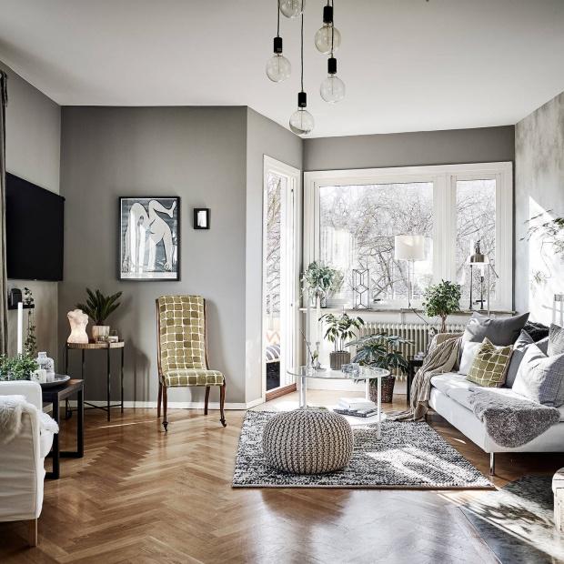 Wnętrze w szarościach: zobacz stylowe mieszkanie