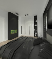 Sypialnia z akwarium