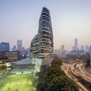 Jockey Club Innovation Tower, politechnika w  Hong Kongu. Fot.  Doublespace.