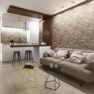Płytki Wall Brick do złudzenia imitują naturalną czerwoną cegłę. Wspaniale wpiszą się zarówno w aranżację salonu nowoczesnego, jak i rustykalnego. Fot. Keraben.