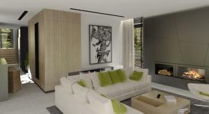Wnętrze zaprezentowane w zdecydowanym, ale minimalistycznym stylu. Dom jest duży, przestronny i jasny, co jeszcze bardziej wpływa na jego optyczne powiększenie.