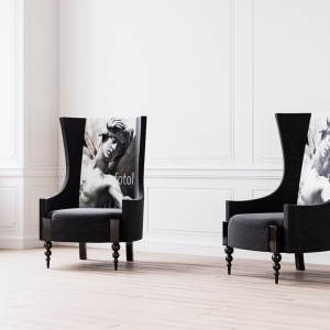 Kolekcja #LOVE to nie tylko oryginalne łóżka, ale również toaletki czy choćby krzesła dedykowane do sypialni. Na zdjęciu dwa eleganckie fotele #AMOR.
