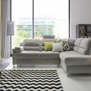 Narożnik Fiorino  Gala Collezione, oprócz pięknej uniwersalnej formy dobrze wpisującej się w charakter każdego pomieszczenia, oferuje również niewielkie, ergonomiczne wymiary. Fot. Gala Collezione