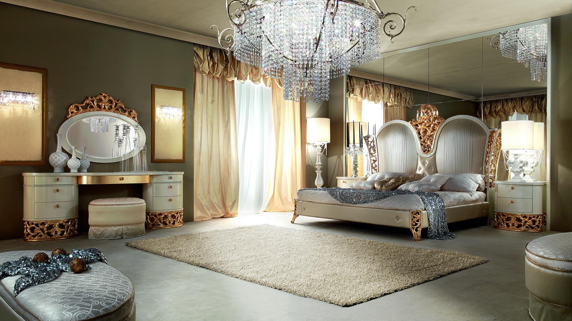 Sypialnia z kolekcji L'Incanto marki Lanpas. Fot. Lanpas