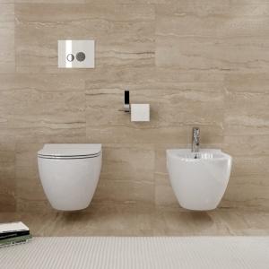 Ceramika sanitarna z serii Urban Harmony z miską sedesową Clean On w wersji bezkołnierzowej. Fot. Opoczno.