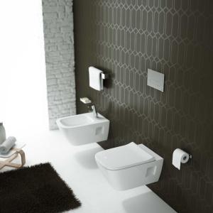 Do miski WC Modo zaprojektowano również pasujący do niej bidet wiszący. Fot. Koło