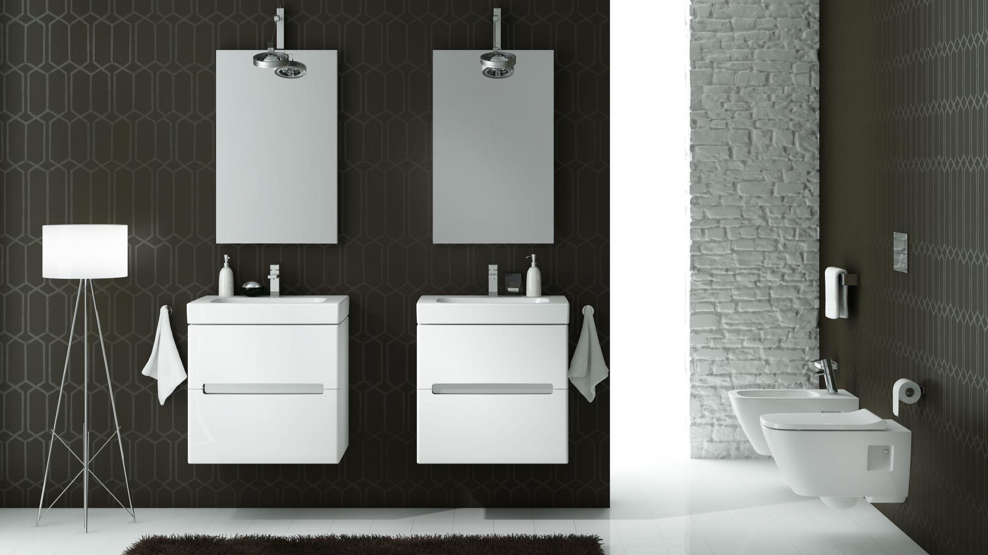 Kolekcja Modo, to również meble łazienkowe wykonane z płyty wilgocioodpornej. Fot. Koło