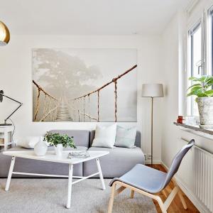 W małym wnętrzu dominują jasne kolory, optycznie powięszające przestrzeń. Fot. Svenskfast