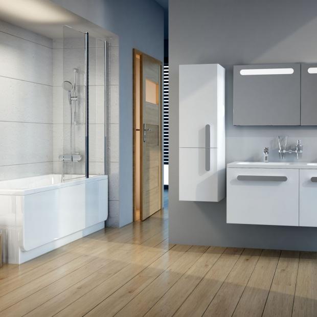 Parawany nawannowe - rozwiązanie do małych łazienek