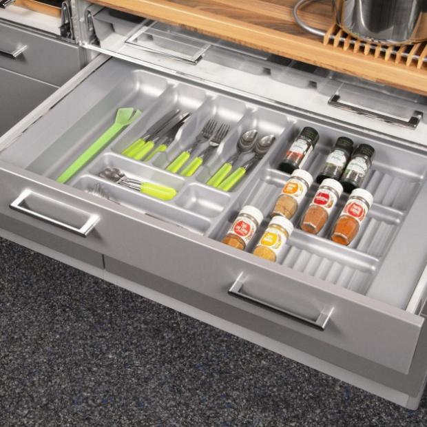Porządek w kuchni: nowoczesne szuflady