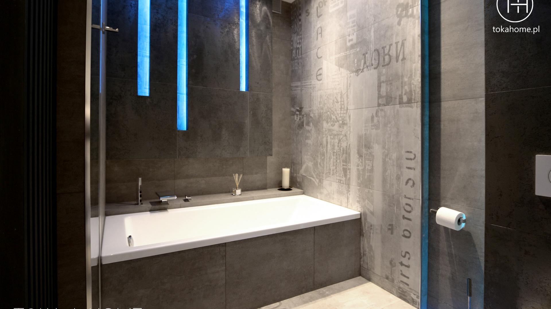 Chłodna elegancja czyli beton w łazience. Projekt TOKA + HOME. Fot. Archiconnect.pl