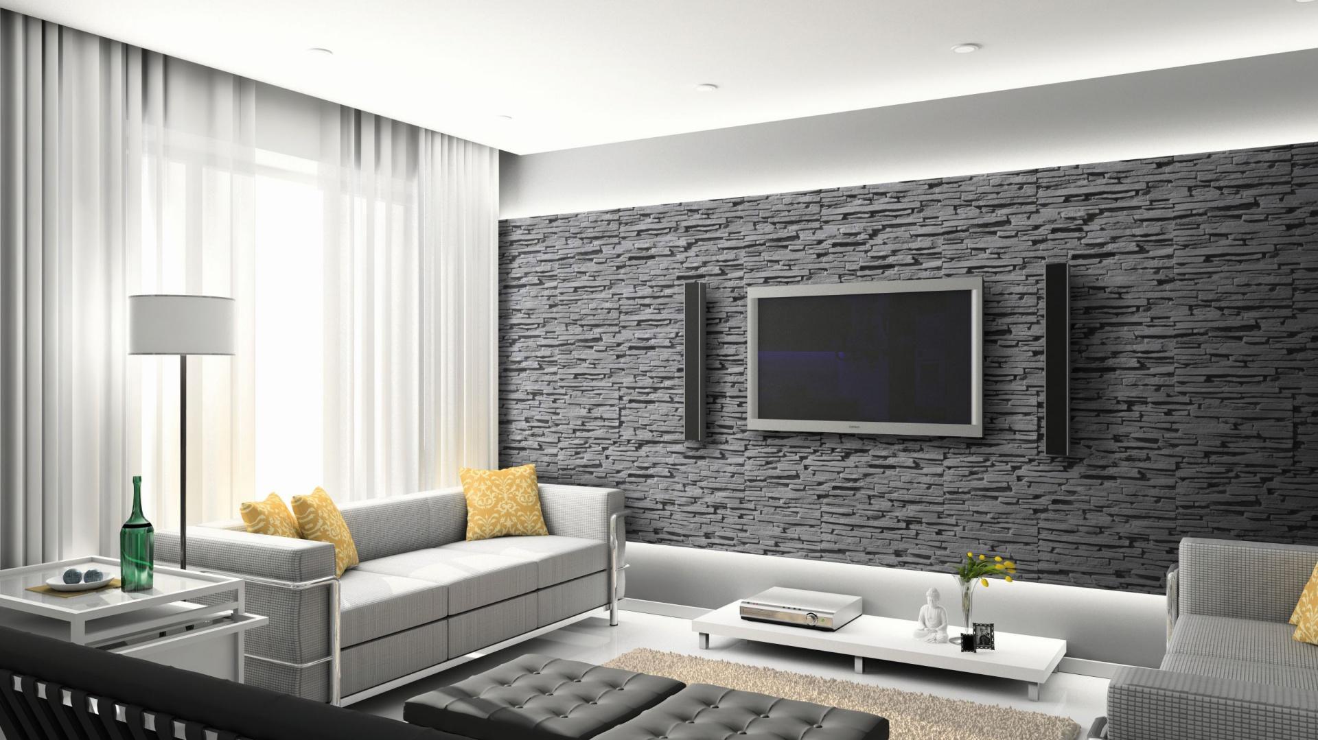 ściany W Salonie 5 Pomysłów Na Kamień Dekoracyjny