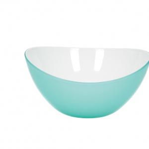 Miska Livio wykonana z najwyższej jakości tworzywa sztucznego, dostępna w pięknych, pastelowych barwach przyciągających wzrok. Fot. Agata Home