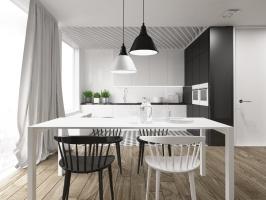 Minimalistyczny apartament w Gdyni