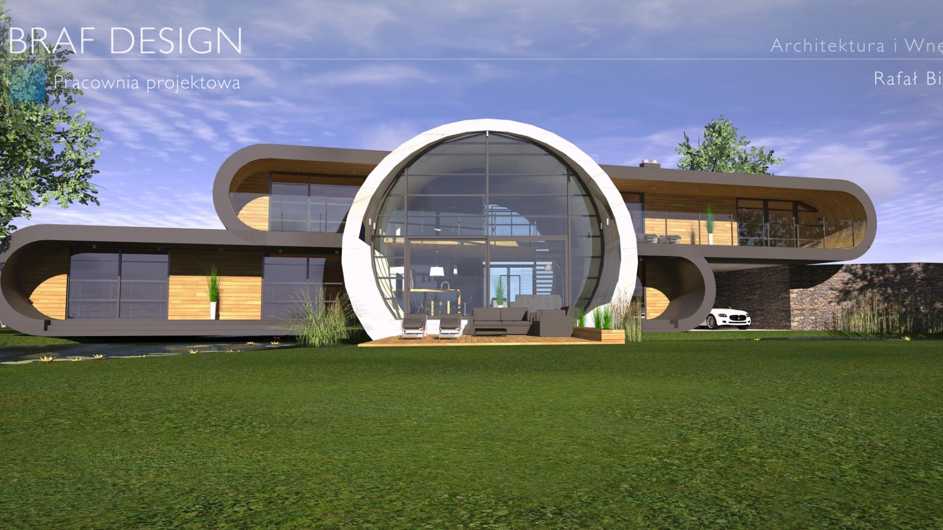 Projekt koncepcyjny ultranowoczesnego domu nad jeziorem. Fot. Braf Design