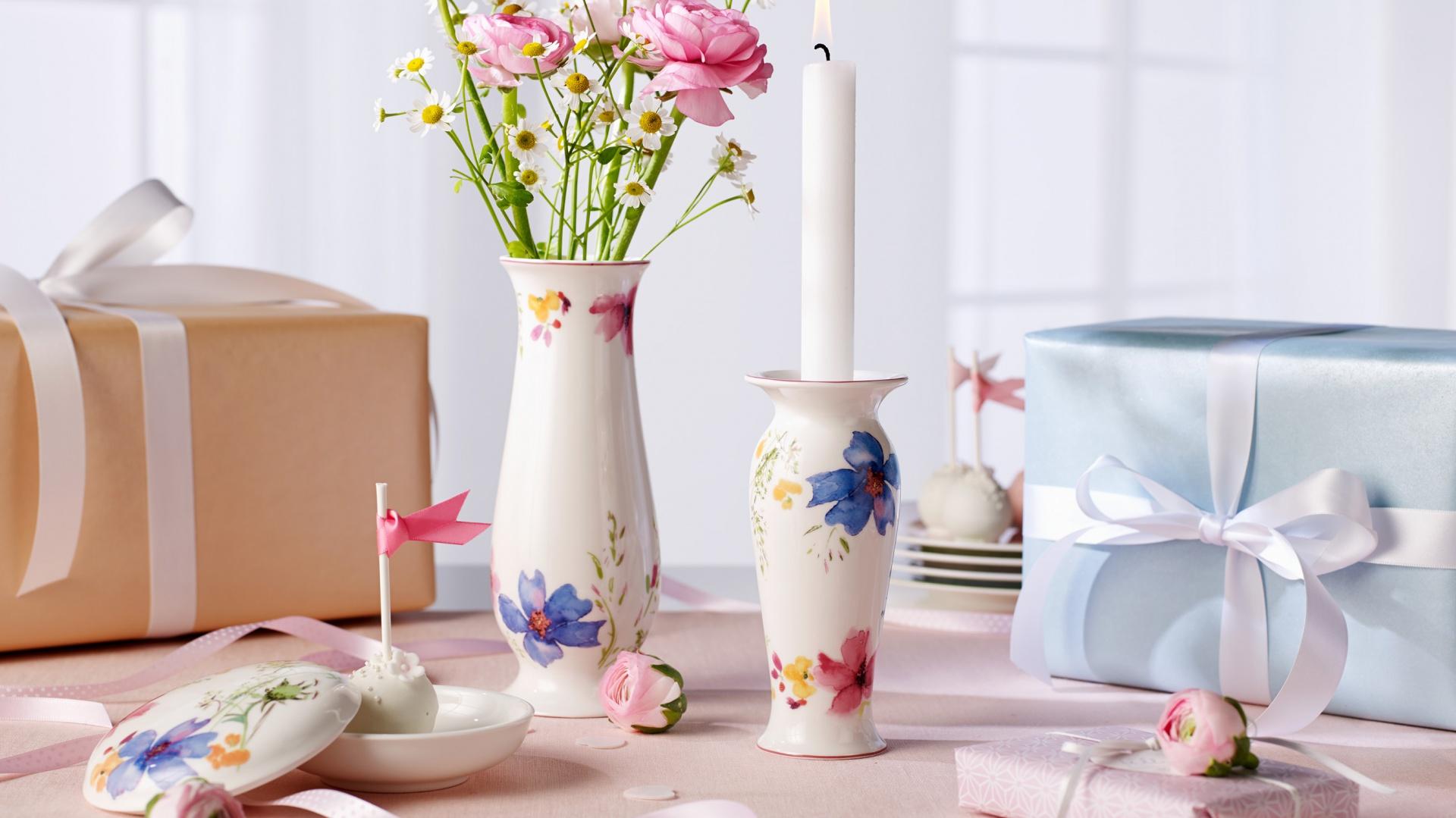 Porcelanowe wazony z kolekcji Mariefleur Gifts. Fot. Villeroy&Boch