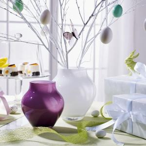 Szklane wazony Oronda (małe) e kolorze arctic breeze i soft raspberry. Fot. Villeroy&Boch