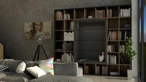 Kącik czytelniczy ma sprytnie schowane światło. Całe siedzisko jest tapicerowane, by czytelnik czuł się komfortowo w każdej pozie - siedząc czy leżąc.
