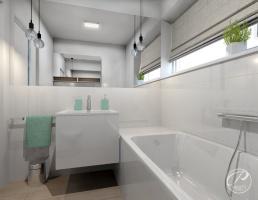 Barwa biała jest ponadczasowa, ale używając jej w łazience, dobrze jest przełamać jej monotonię dodatkami czy odpowiednimi dekorami, np. z drewna czy też rośliną w doniczce.