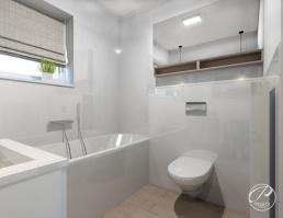 Najczęściej wybieraną barwą w łazience jest kolor biały. Jest on uniwersalny, powiększa optycznie wnętrze oraz stanowi idealne tło dla innych barw. Ponadto daje wrażenie czystości i dbałości o higienę.