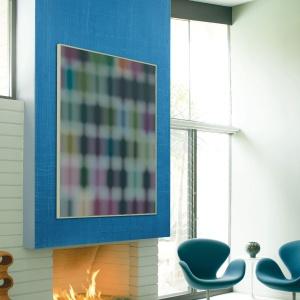Farba z efektem Denimu to świetny pomysł na wykończenie ściany w niebieskim kolorze. Fot. Benjamin Moore