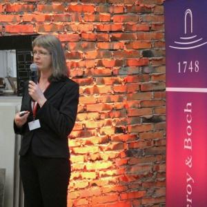 O trendach z EuroCucina 2016 opowiadała Małgorzata Nietupska (Świat łazienek i kuchni).