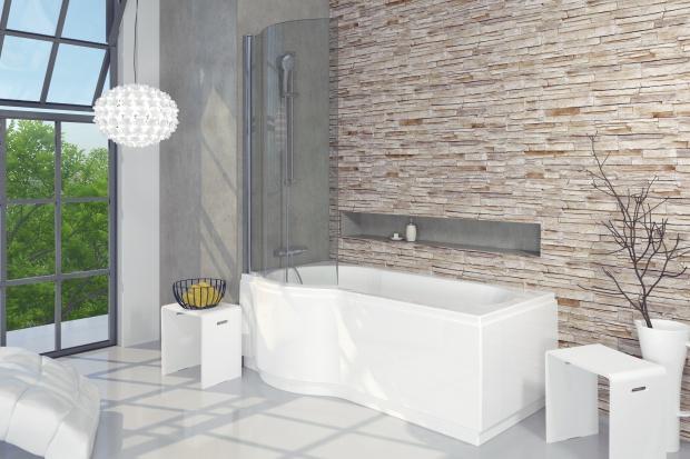 Wanna z parawanem – pomysły do małych łazienek