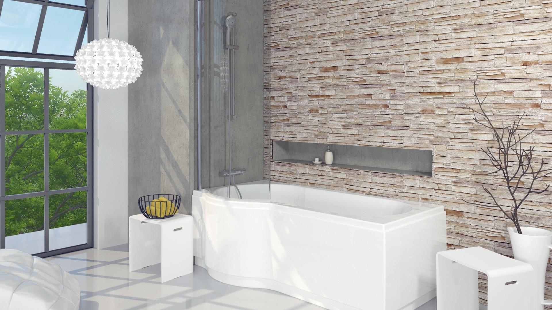 Wanna Z Parawanem Pomysły Do Małych łazienek