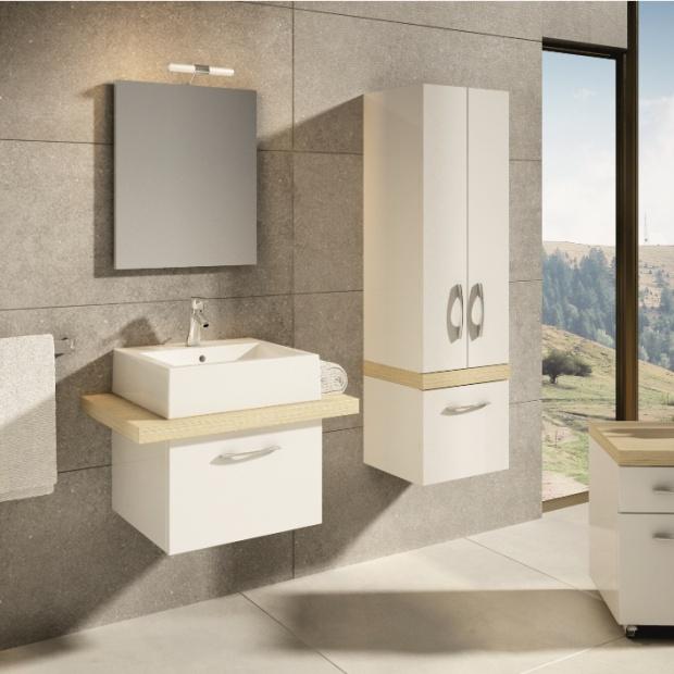 Wyposażenie łazienki w kolorach natury