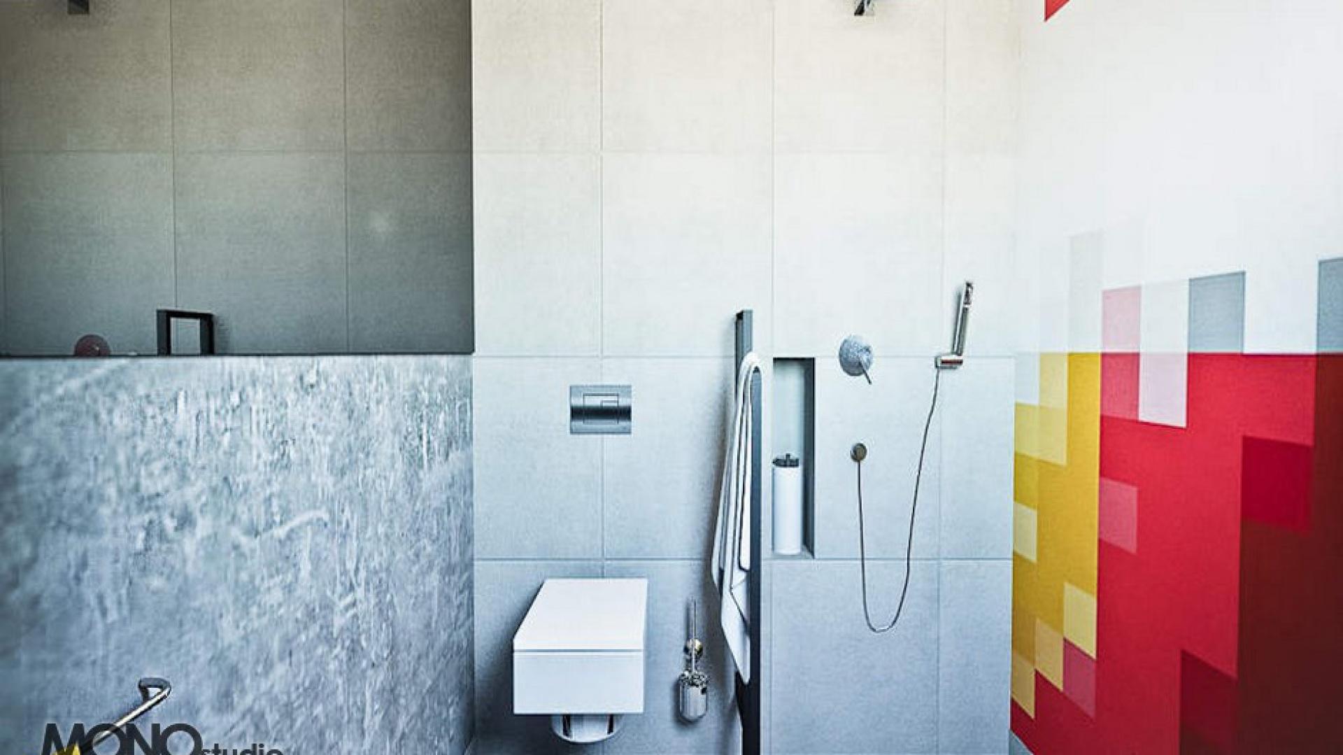 Oryginalna łazienka dla kreatywnego singla. Projekt MONOstudio. Fot. Archiwum Archiconnect.pl