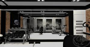 Projekt siłowni w prywatnym domu