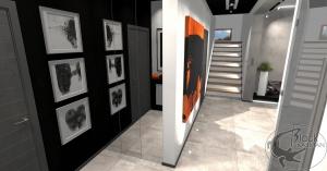 Projekt nowoczesnego, minimalistycznego hallu