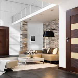 Drzwi Sempre Onda intrygują estetyką w nowoczesnym stylu. Szerokie, ryflowane panele sprawiają, że prosta forma skrzydła nabiera wyjątkowego charakteru.
