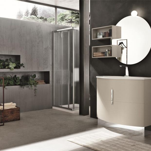 Okrągłe lustro w łazience - to jest modne!