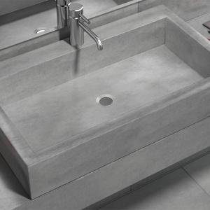 Umywalka wykonana z betonu. Fot. Morgan&Moeller
